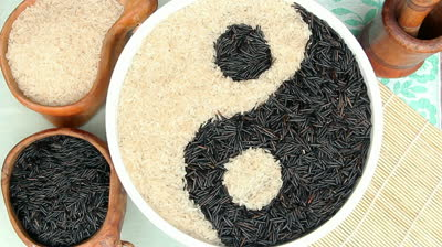 stock-footage-bowls-of-black-and-white-uncooked-rice-forming-a-yin-yang-symbol
